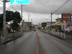坂田交差点(西原高校)からサンエー西原シティー向け1Km位です!