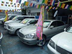 大型セダン・ミニバン・1BOX・SUV・コンパクトカー・軽・全てのジャンルを、展示しております。